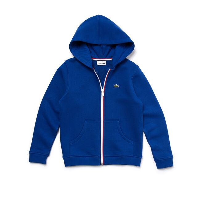 Kids Zip-up hooded sweatshirt in fleece