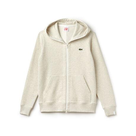 Unisex Lacoste LIVE Hooded Zippered Cotton Sweatshirt