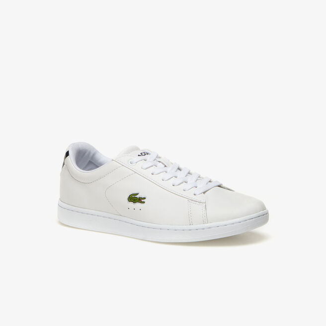 women 39 s carnaby low rise leather trainers lacoste. Black Bedroom Furniture Sets. Home Design Ideas