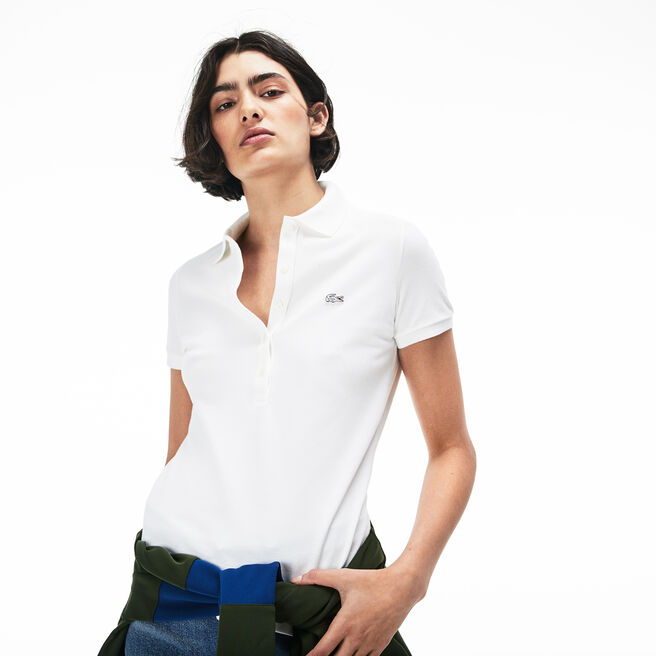 Women's Lacoste Slim Fit Stretch Mini Cotton Piqué Polo