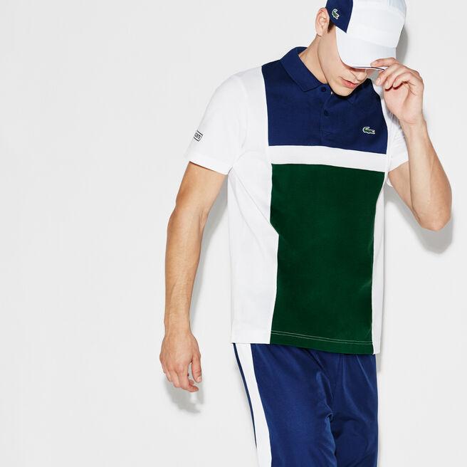 Men's Lacoste SPORT Tennis Colorblock Ultra-Light Cotton Polo