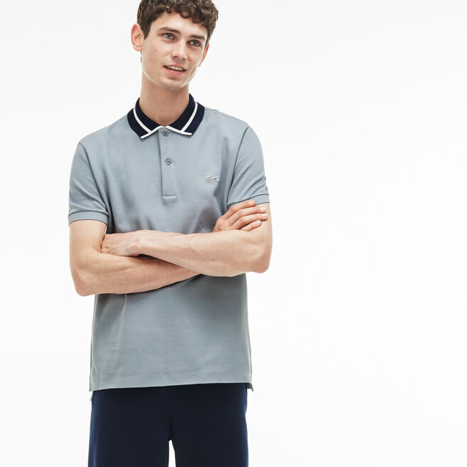 Men's Lacoste Slim Fit Piped Thick Cotton Piqué Polo