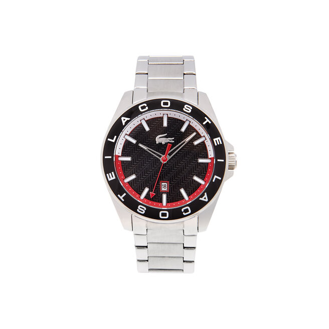 Lacoste Westport Watch black dial Stainless steel bracelet