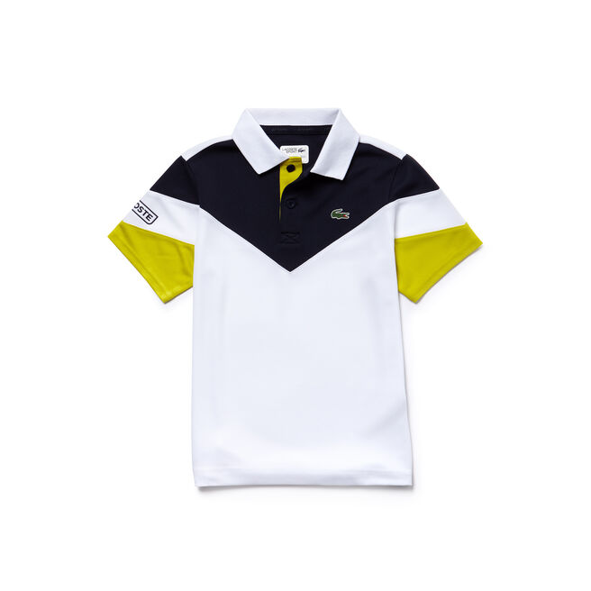 Boys' Lacoste SPORT Tennis Colorblock Tech Piqué Polo