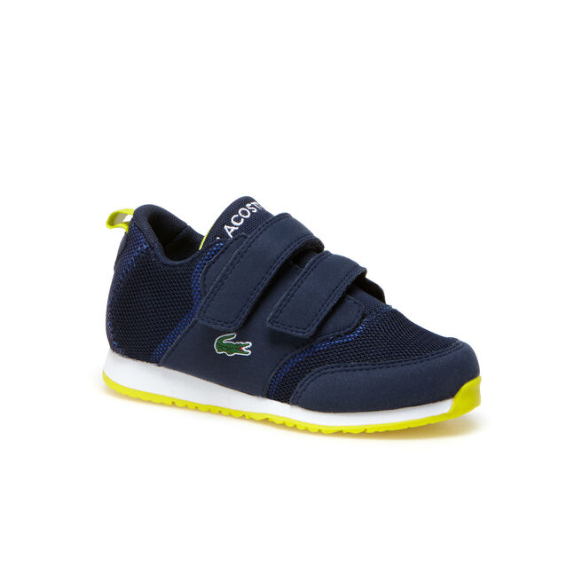 Kids' L.IGHT Breathable Canvas Double Velcro Strap Sneakers