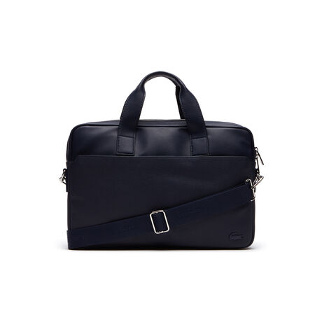 Men's Rafael Monochrome Leather Zip Computer Bag