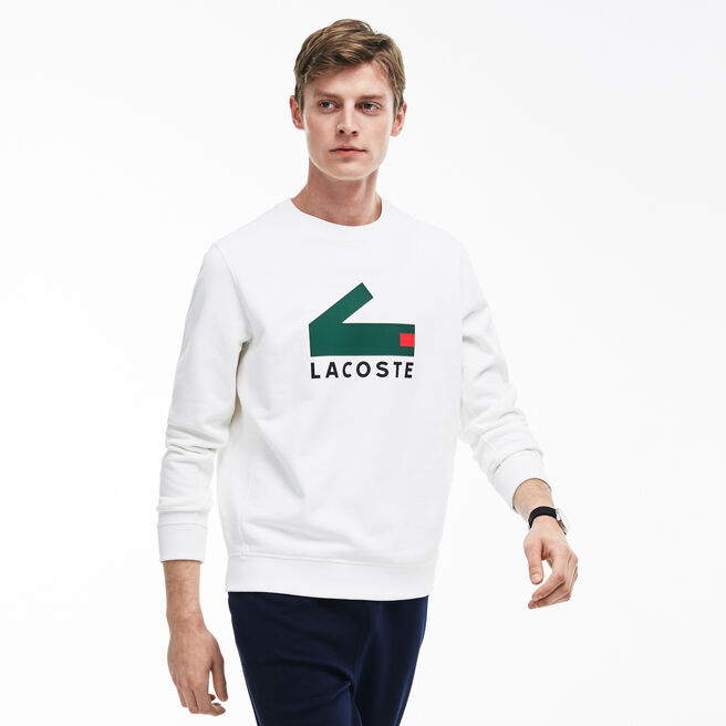 Men's Crocodile Print Cotton Fleece Sweatshirt