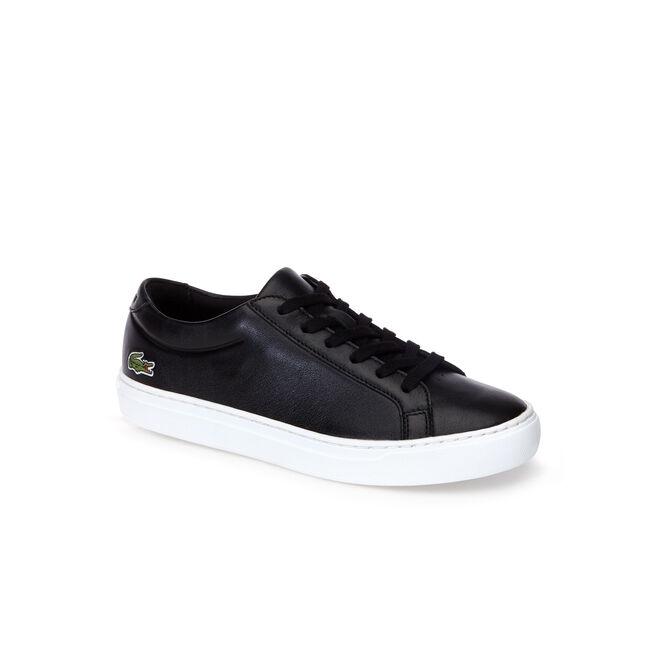 Women's L.12.12 Shiny Monochrome Leather Sneakers