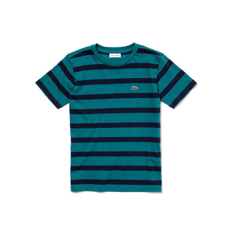 Boys' Striped Cotton Jersey T-shirt