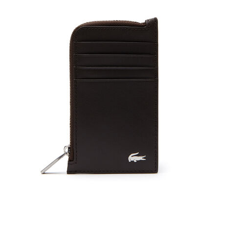 Men's FG Leather Zip Card Holder