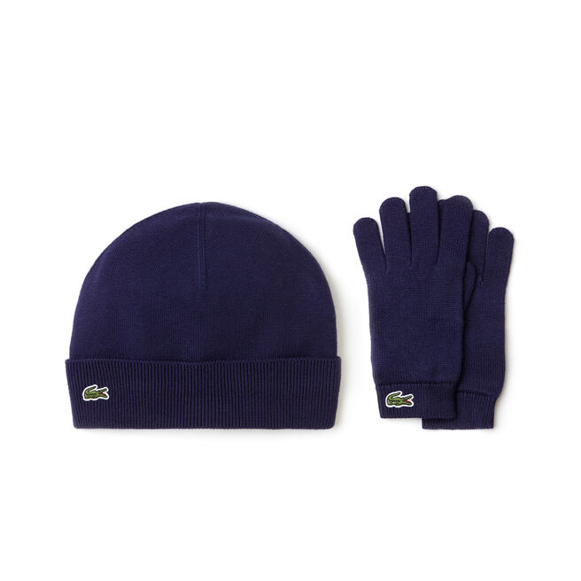 Kids' Cotton And Cashmere Beanie And Gloves