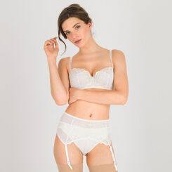 Ivory Suspender Belt – Refined Glamour-WONDERBRA