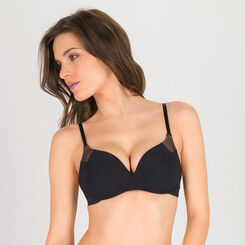 Black wireless Push-up Bra – Minimal Chic-WONDERBRA